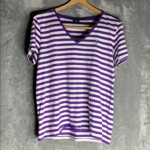 Purple and White Striped Ralph Lauren t-shirt